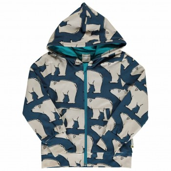 Kapuzen-Jacke Polarbären doppelt Jersey