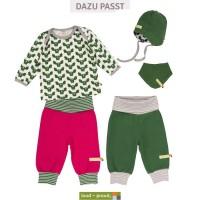 Vorschau: Wendehalstuch 2 Druckknöpfe Fleece grün