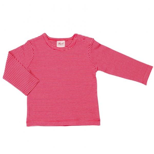 Shirt Jersey feine Rippe mit 2 Druckknöpfen
