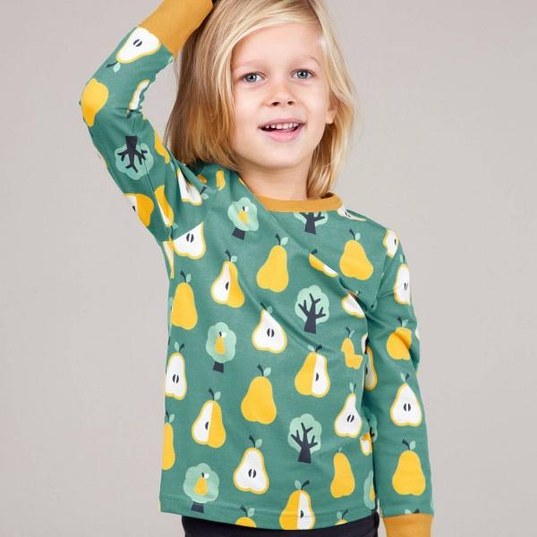 Shirt Birnen Alloverprint langarm mit Armbündchen