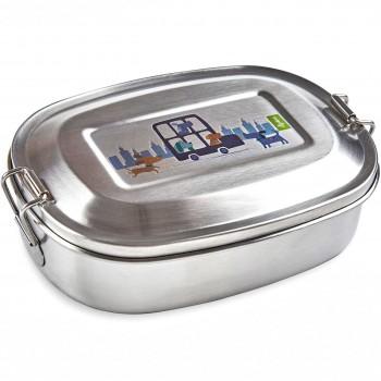 Brotdose Edelstahl mit Bügelverschluss 17x9x5 cm (Hund)