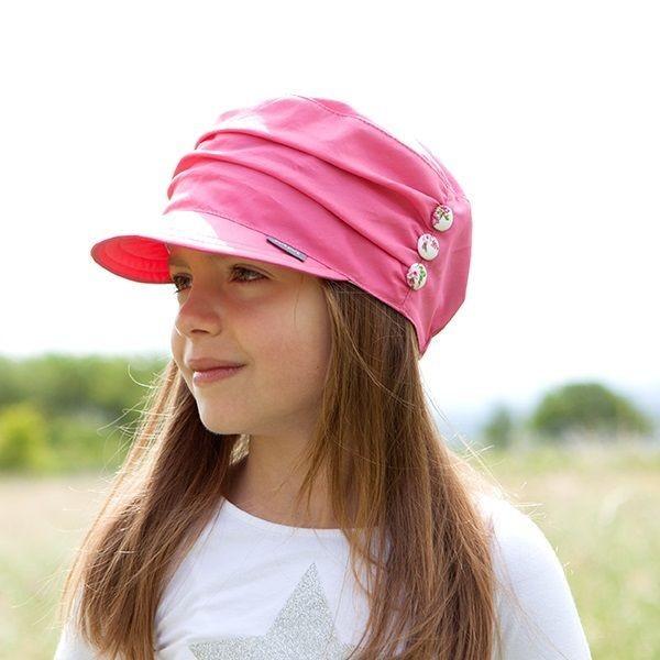 Cooles Mädchen Capi von pure pure aus Biobaumwolle - pink