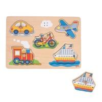Sound- & Steckpuzzle - 5 tlg - Fahrzeuge