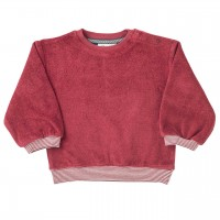 Robustes Frottee Sweatshirt in rot