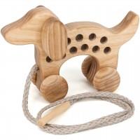 Holz Fädelspiel Hund – ab 3 Jahren