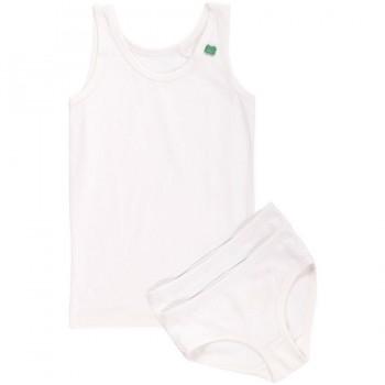 Set Girl 1 Unterhemd 2 Slips creme