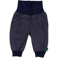 Weiche Bio Babyhose mit Softbund in Jeansoptik