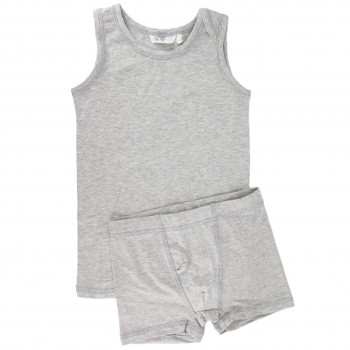 Set 1 Unterhemd 1 Shorts grau