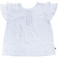 Elegante Baby Web-Slub Bluse kurzarm Streifen