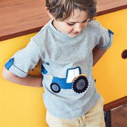 Traktor Jungen Shirt - kurzarm grau