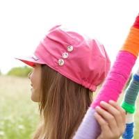 Vorschau: Cooles Mädchen Capi von pure pure aus Biobaumwolle - pink