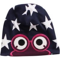 Vorschau: Beanie Sternenmütze für Mädchen navy magenta