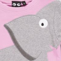 Vorschau: Arm mit Elefant Langarmshirt rosa