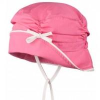Elegante Sommermütze für kleine Damen pink