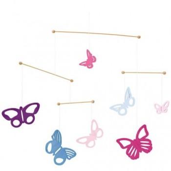 """Holz Mobile für Babys """"bunte Schmetterlinge"""""""
