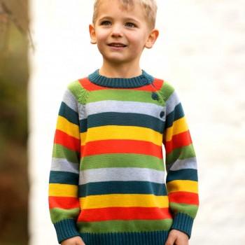 Warmer petrol Strick Rainbow Pullover