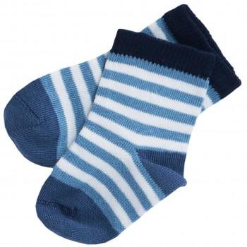 Babysocken Ringel jeansblau