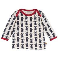 Kinder Shirt innen ungefärbt außen süsse Hund - navy