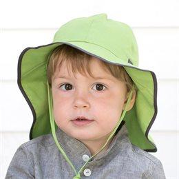 Verstellbare Sommermütze mit Nackenschutz grün