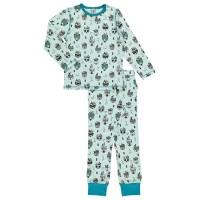 Langarm Schlafanzug blaue Indianer Tiere