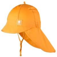 Sommermütze orange Nackenschutz