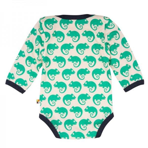 Loud and Proud Body langarm mit Geckos grün