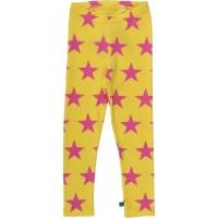 Vorschau: Coole Kinder Leggings Sterne gelb