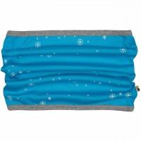 Warmer Schlauchschal Schneeflocken in türkis