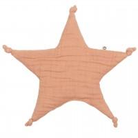 Schmusetuch Sternform rosé