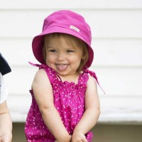 Fischerhut Mädchen pink Twill 50+ UV Schutz