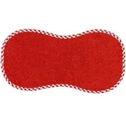 Spucktuch aus Baumwollfrottee in rot
