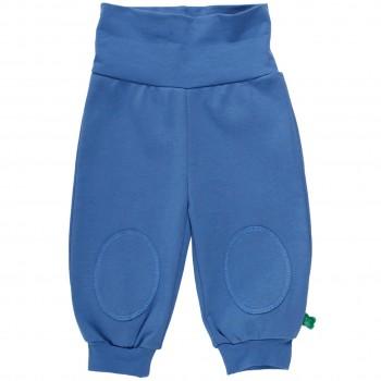 Blaue Krabbelhose mit breitem Bund