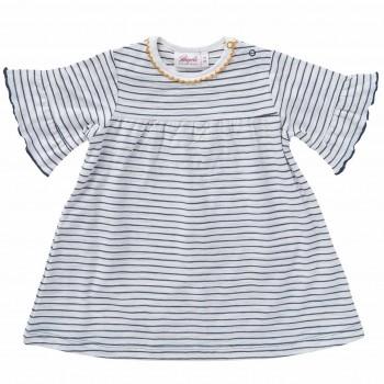 Baby Kleid kurzarm Sommer anthrazit geringelt
