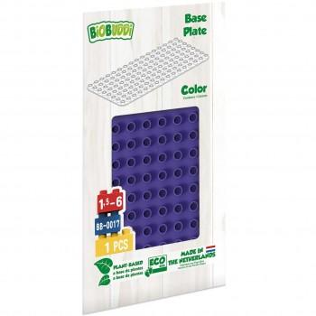 Bauplatte für Stecksteine – Basisplatte lila 15x30 cm