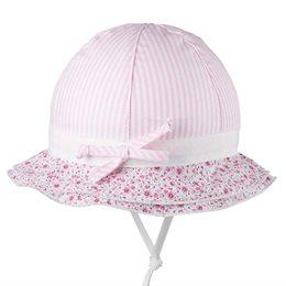 Sommerhut Mädchen zartes rosa Blümchen