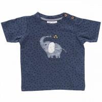 T-Shirt Aufnäher Elefant anthrazit