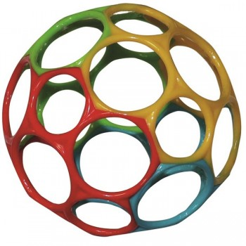 Oball Babyspielzeug 11 cm - gelb rot