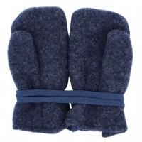 Woll Fleece Baby Fäustel jeans-blau