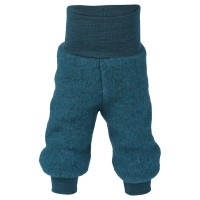 Woll Fleece Hose Softbund petrol