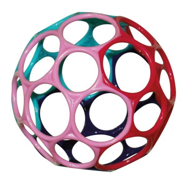 Oball Babyspielzeug 10 cm - lila rot - für Mädchen