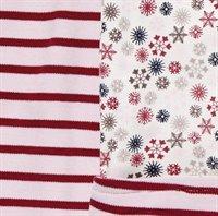 Vorschau: Retro Baby Hose zum Wenden mit Schneeflocken