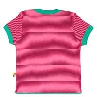 Vorschau: Loud and Proud Bio Shirt Ringel mit Schildkröte pink