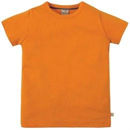 T-Shirt uni hochwertig in orange