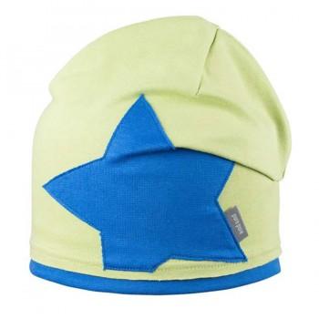 Beanie Stern Aufnäher grün-blau