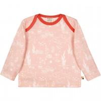 Leichtes Shirt langarm Meereswelt in rosé