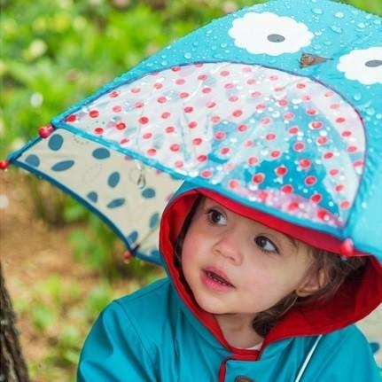 Kinder Regenschirm mit Guckloch - Eule