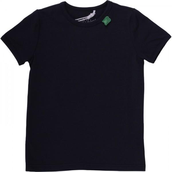 Bio Kurzarmshirt - tolles dehnbares Basic Shirt - navy