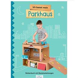 Parkhaus basteln mit Stickern ab 3 Jahre