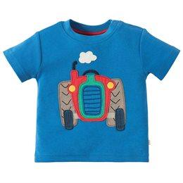 T-Shirt mit grossem Traktor Aufnäher