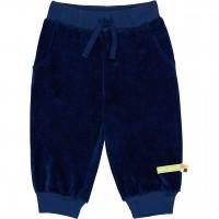 Weiche Frotteehose Taschen in dunkelblau